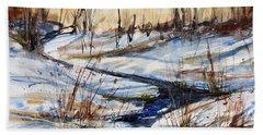 Winter Stream Beach Towel by Judith Levins
