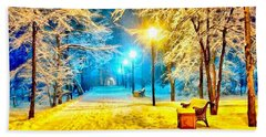 Winter Street Beach Towel