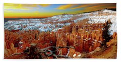 Winter Sunrise At Bryce Beach Towel