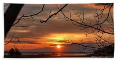 Winter Sunrise  Beach Sheet