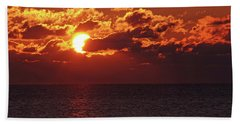 Winter Sunrise Beach Towel by Greg Graham