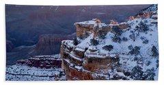 Winter Sunrise - Mather Point Grand Canyon Beach Sheet