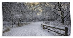 Beach Towel featuring the photograph Winter Sunrise by Sebastian Musial