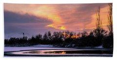Beach Towel featuring the photograph Winter Sunset by Bryan Carter