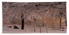 Winter Sunset Ft Hill Park Beach Sheet