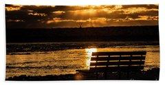 Winter Sunset Beach Sheet
