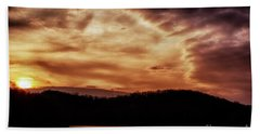 Beach Towel featuring the photograph Winter Sunset by Thomas R Fletcher