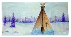 Winter Tepee Beach Towel