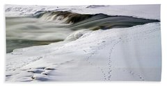 Winter Tracks Beach Towel by Eric Nielsen