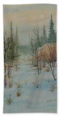 Winter Trail Alberta Beach Towel