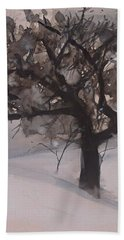 Winter Tree Beach Sheet by Laurie Rohner