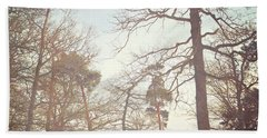 Beach Towel featuring the photograph Winter Trees by Lyn Randle