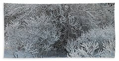 Winter Trees Beach Towel by Vladimir Kholostykh