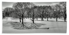 Winter Trees Beach Sheet