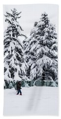 Winter Trekking Beach Towel