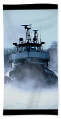 Winter Tug Beach Towel
