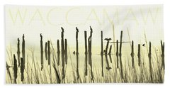 Winter Waccamaw Mist Beach Towel by Deborah Smith