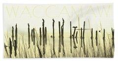 Winter Waccamaw Mist Beach Sheet by Deborah Smith