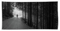 Winter Walk - Austria Beach Sheet by Mountain Dreams
