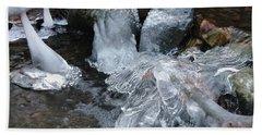 Winter Water Flow 4 Beach Sheet