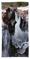 Winter Water Flow 5 Beach Sheet