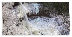 Winter Waterfalls Beach Sheet