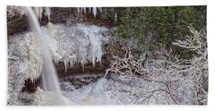 Winter Wonderland At Kaaterskill Falls Beach Sheet