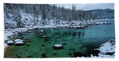 Winter Wonderland Beach Towel by Sean Sarsfield