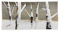 Winter Wood Beach Sheet
