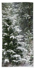 Beach Towel featuring the photograph Winter Woodland by Will Borden