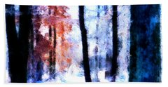 Winter Woods Beach Towel