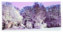 Winter Beach Sheet by Zedi