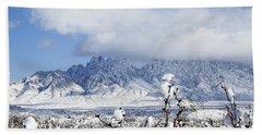 Beach Towel featuring the photograph Organ Mountains Winter Wonderland by Kurt Van Wagner