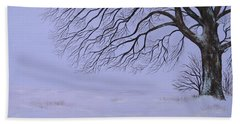 Winter's Fury Beach Sheet by Billinda Brandli DeVillez
