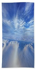 Beach Towel featuring the photograph Winter's Hue by Phil Koch