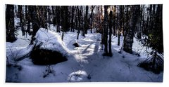 Beach Sheet featuring the photograph Winters Shadows by David Patterson