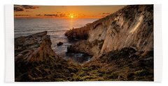 Winter's Sunset Beach Towel