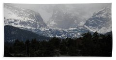 Beach Towel featuring the photograph Winters Touch by Broderick Delaney
