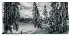 Winter Wonderland Harz In Monochrome Beach Towel