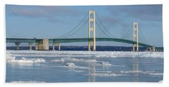 Wintery Bridge Beach Towel