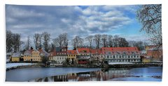 Wintry Nyborg Beach Towel