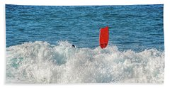 Beach Towel featuring the photograph Wipe Out by David Lawson