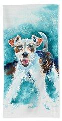 Wire Fox Terrier Beach Sheet