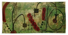 Wired Composition Enigma Beach Towel