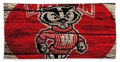 Wisconsin Badgers Barn Door Beach Sheet