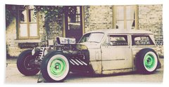 Beach Sheet featuring the photograph Wisconsin State Journal Ratrod by Joel Witmeyer