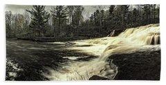 Wiscoy Creek Falls Beach Sheet by Richard Engelbrecht