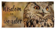 Wisdom Begins In Wonder Beach Sheet