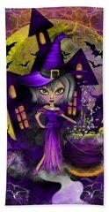 Wisdom Witch Fantasy Art Beach Sheet