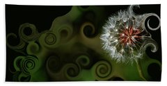 Wish Dandelion Art By Lesa Fine Beach Towel